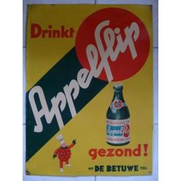 Reclamebord 'Drinkt Appelflip'